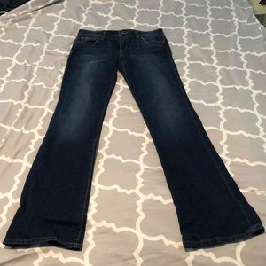 How's Jeans. Dark wash, curvy bootcut. Size 29